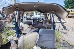 Destroyed Vehicle Half Scrap Royalty Free Stock Photo