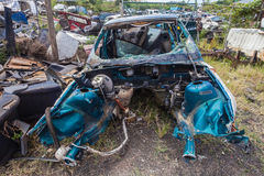Destroyed Vehicle Scrap Stock Photography