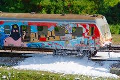 Destroyed Wagon Royalty Free Stock Photos