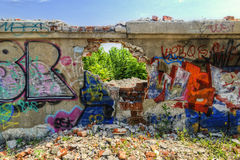 Destroyed wall Royalty Free Stock Image