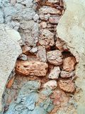 Destroyed wall details Royalty Free Stock Photo