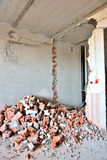 Destroyed wall Stock Photo