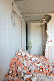 Destroyed wall Royalty Free Stock Photo