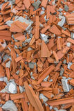 Destroyed wall of red clay brick Stock Photography