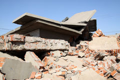 Destroyed walls Stock Photography