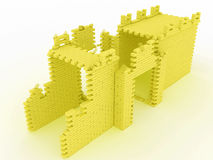 Destroyed yellow brick gate #3 Royalty Free Stock Photography