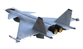 Destroyer. 3D render of russian jet fighter Stock Photography