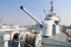 Destroyer artillery Stock Photos