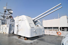 Destroyer artillery Stock Photography