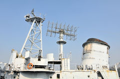 The destroyer fire control radar Stock Images