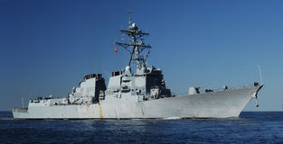 Destroyer naval Images libres de droits