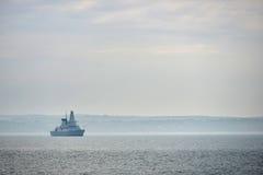 Destroyer. Royal navy destroyer in the Solent near Portsmouth, UK Stock Images