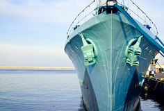 Destroyer Ship front Royalty Free Stock Images