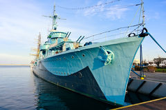 Destroyer Ship in Gdynia Stock Photo