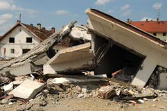 Destroying 030. A view at a destroyed building royalty free stock images