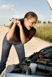 Destroying the car! Stock Photos