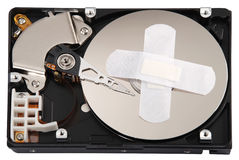 Destroying data from hard disk - conceptual photo. Stock Photography