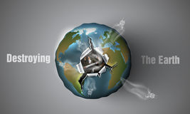 Destroying the Earth. Royalty Free Stock Photography