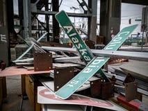 Destroying highway 99. Destroying highway urban destruction seattle sky royalty free stock photography
