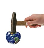 Destroying mother earth Stock Images