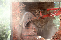 Destroying the wall Stock Photography