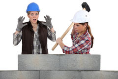 Destroying a wall. Stock Image