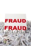 Destrozo de fraude. Imágenes de archivo libres de regalías