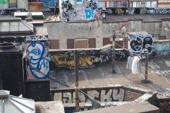 Destrozo urbano con el lavadero Fotos de archivo libres de regalías