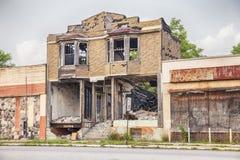 Destrozo urbano en Detroit Imagenes de archivo
