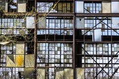 Destrozo urbano - fábrica abandonada vieja III del ferrocarril Imagenes de archivo