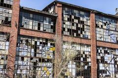 Destrozo urbano - fábrica abandonada vieja IX del ferrocarril Fotografía de archivo libre de regalías