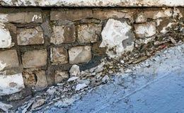 Destruído carregando o tijolo Foto de Stock
