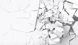 destrucción de la representación 3d de la pared Imagen de archivo libre de regalías
