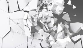 destrucción de la representación 3d de la pared Imagen de archivo