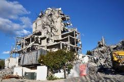 Destrucción de la terraza en el parque, Christchurch foto de archivo libre de regalías