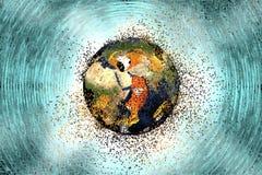Destrucción de la tierra Concepto global de los problemas libre illustration