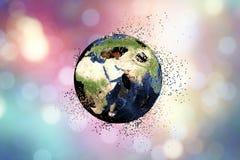 Destrucción de la tierra Concepto global de los problemas ilustración del vector