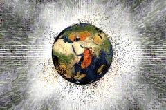 Destrucción de la tierra Concepto global de los problemas Foto de archivo libre de regalías