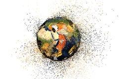 Destrucción de la tierra Concepto global de los problemas Fotografía de archivo libre de regalías