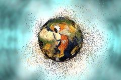 Destrucción de la tierra Concepto global de los problemas Fotos de archivo libres de regalías