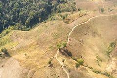 Destrucción del bosque en Tailandia Imagen de archivo libre de regalías