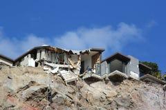 Destrucción del terremoto de Christchurch imagen de archivo