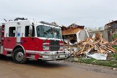 Destrucción del tornado Fotografía de archivo libre de regalías