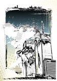 Destrucción del World Trade Center Imagen de archivo