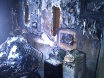 Destrucción por el fuego imagen de archivo