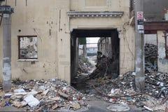 Destrucción urbana del ghetto Imagen de archivo