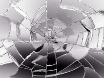 Destructed or damaged pieces of glass. Large resolution Stock Photo