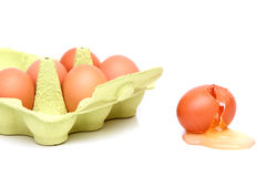 Destructed egg Stock Photos