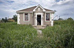 Destructed House stock photography