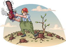 Destructing a floresta ilustração royalty free